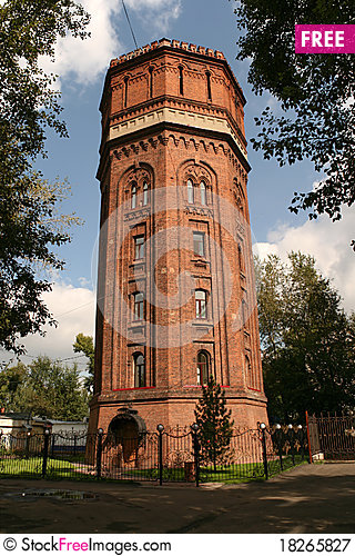 Free Old Water Tower Royalty Free Stock Photography - 18265827