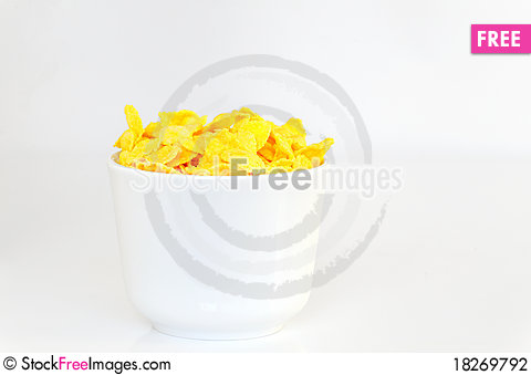 Free Bowl With Corn Flake Stock Photography - 18269792