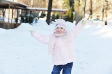 Girl Playing In Park Stock Photography