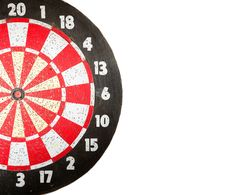 Dartboard On White Stock Images