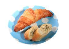 Free Croissant, Garlic Bread Royalty Free Stock Photo - 18260575