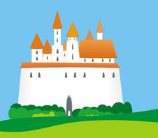 Medieval Castle Or Town Royalty Free Stock Photography