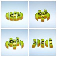 Free Sliced Kiwi. Royalty Free Stock Images - 18260989