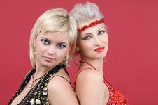 Free Two Young Beautiful Woman Royalty Free Stock Images - 18261349