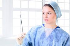 Free Beautiful Woman Doctor Stock Photography - 18261442