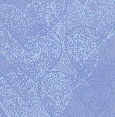 Free Retro Hearts Background Stock Image - 18261531