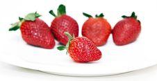Isolated Fruits - Strawberries Stock Photo