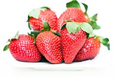 Free Isolated Fruits - Strawberries Royalty Free Stock Image - 18261736