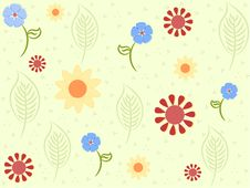 Free Delicate Flowers Pattern Stock Images - 18261904