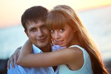 Portrait Of A Happy Young Couple. Stock Photo