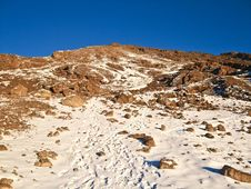 Free Mount Kilimanjaro In Snow Stock Photography - 18262712