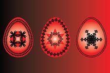Free Easter Three Eggs Red Black  Illustartion Stock Images - 18263914