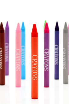 Free Colorful Crayons Royalty Free Stock Photography - 18263957