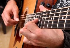 Play Guitar Royalty Free Stock Photography
