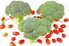 Tomato Broccoli Royalty Free Stock Photo
