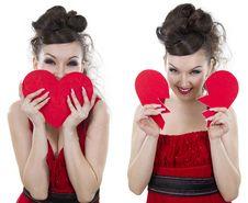 Woman Has Found Love. Stock Photo