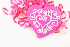Free Pink Valentine Heart Cookie Stock Image - 18264691