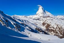 Free Ski Course At Matterhorn Peak Royalty Free Stock Image - 18265186