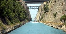 Free Touring The Corinth Canal Stock Image - 18265221