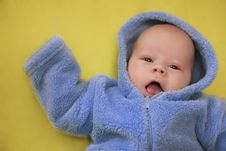 Free The Baby Speaks: Hi! Royalty Free Stock Photography - 18265457