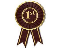 Free Dark Red Ribbon Award. Royalty Free Stock Image - 18265676