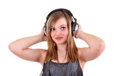 Free Girl With Headphones Stock Photos - 18265933