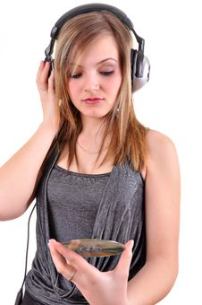 Free Girl With Headphones Royalty Free Stock Photo - 18265945