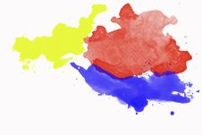 Free Grunge Hand Drawn Watercolor Background Royalty Free Stock Images - 18266049