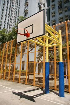 Free Basketball Court In Abstract View Stock Photo - 18266610