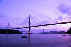 Free Ting Kau Bridge In Hong Kong Royalty Free Stock Image - 18266646