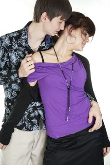 Free Hot Dance Of  Young Couple Royalty Free Stock Image - 18267026