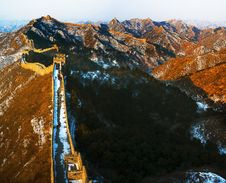 The Great Wall Of Jinshanning Royalty Free Stock Photo