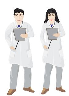 Free Male And Female Doctor Stock Photo - 18267990