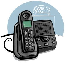 Free Cordless Phone Royalty Free Stock Photo - 18268135