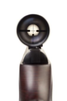 Free Looking Into Optical Sight Stock Photo - 18268420