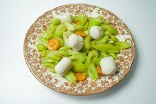 Free Celery And Fishball Stock Photo - 18268430