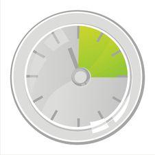 Free Clock Isolated On White Royalty Free Stock Photos - 18268588