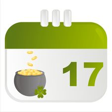 Free St. Patrick S Day Calendar Icon Royalty Free Stock Photos - 18268608