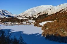 Free Frozen Grasmere And Dunmail Raise Royalty Free Stock Images - 18268679