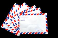 Free Air Mail Envelope Stock Photos - 18268933