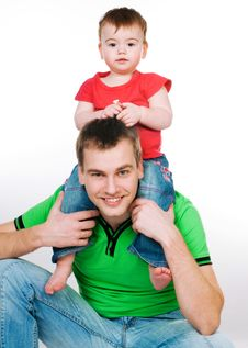 Free Father With Baby Stock Photos - 18269643