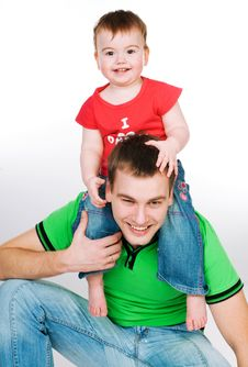 Free Father With Baby Royalty Free Stock Photo - 18269675