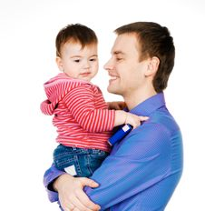 Free Father With Baby Stock Photography - 18269722