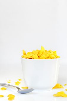 Bowl With Corn Flake Royalty Free Stock Photo