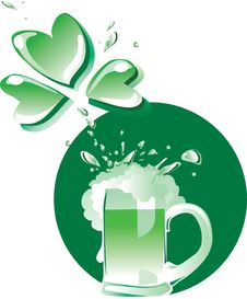 Free Green Patrick S Beer Royalty Free Stock Photos - 18269808