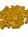 Free Yellow Tablet Isolated Stock Images - 18274414