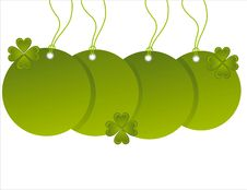 Free St. Patrick S Day Sale Tags Royalty Free Stock Photos - 18270628