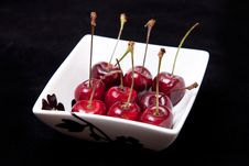 Free Cherries In Bowl Royalty Free Stock Images - 18270829