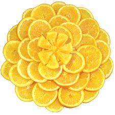 Oranges Cut On Segments Stock Photography