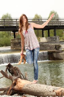 Free Outside At A River Royalty Free Stock Photo - 18272995